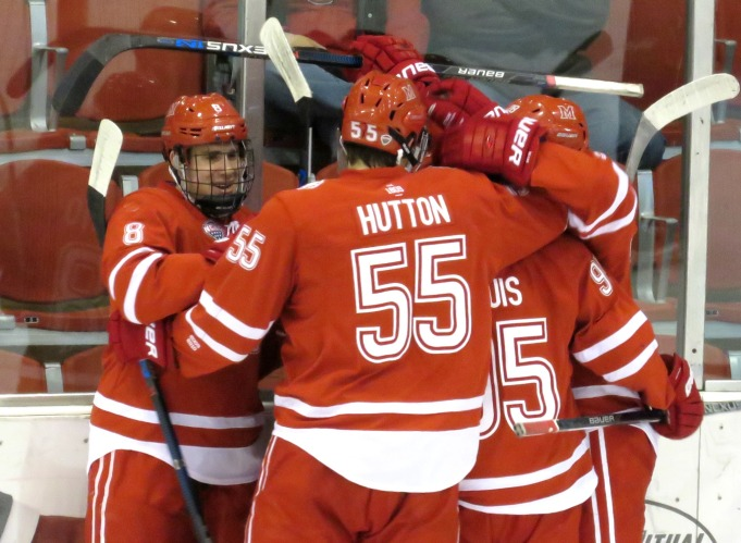 A three goal second period lifted Miami to a 3-2 Win Saturday (photo prout)