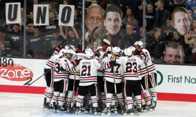 You gotta love the effort the Omaha fans are putting forth in the new Baxter Arena (photo prout)