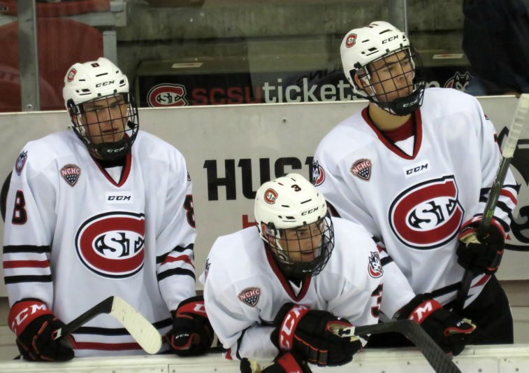 The Huskies have been relying on first-year players to log lots of ice time this season (photo prout)