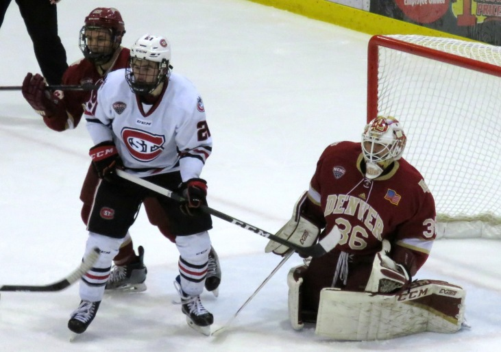 Jake WAhkin scored the Huskies lone goal on Saturday (Photo Prout)