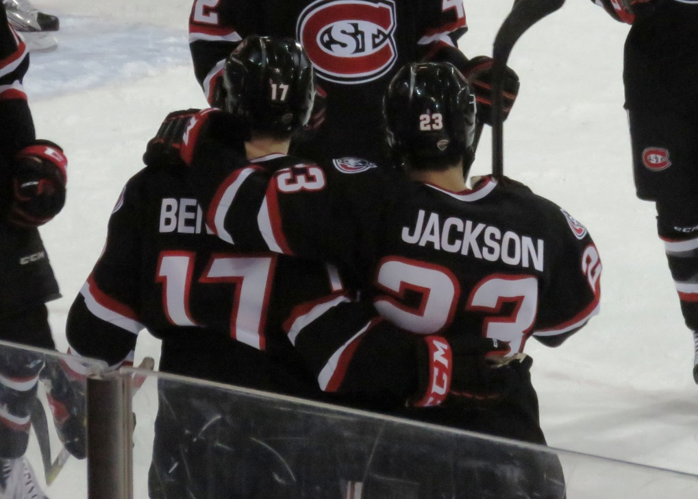 Robby Jackson netted a hat trick in the Huskies 4-3 win on Saturday (photo prout)