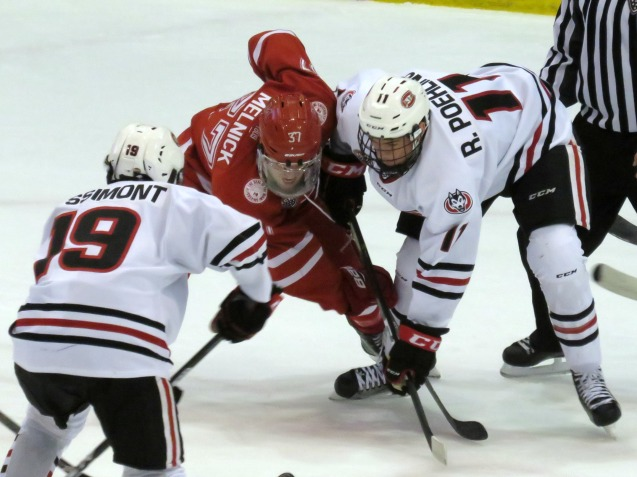 Both Ryan Poehling and Mikey Eyssimont netted goals in Friday's win over Miami (Photo Prout)